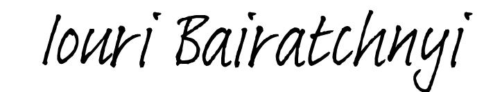 Iouri Bairatchnyi's Signature