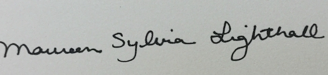 Maureen Sylvia Lighthall's Signature