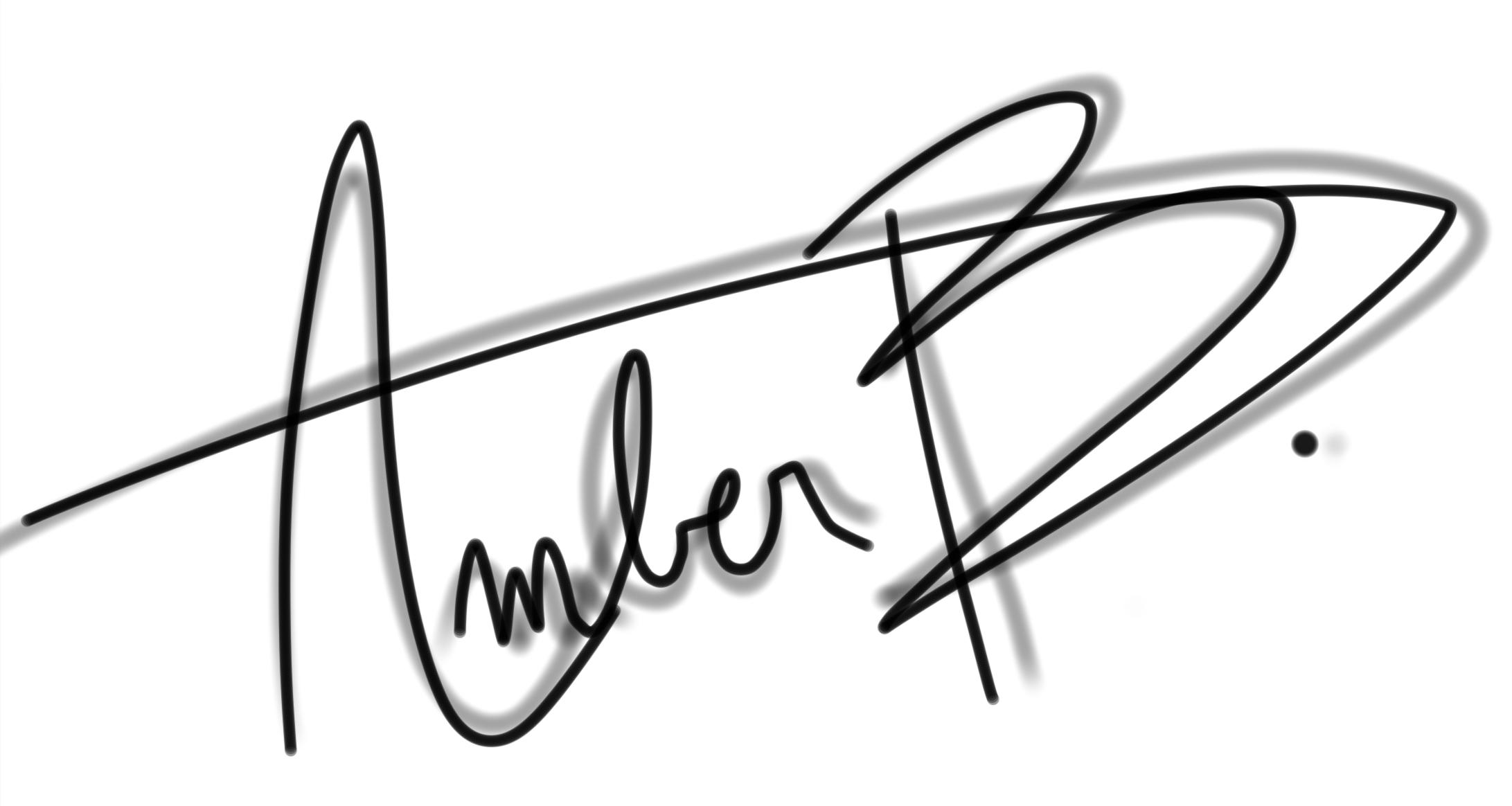 Amber Burlet's Signature