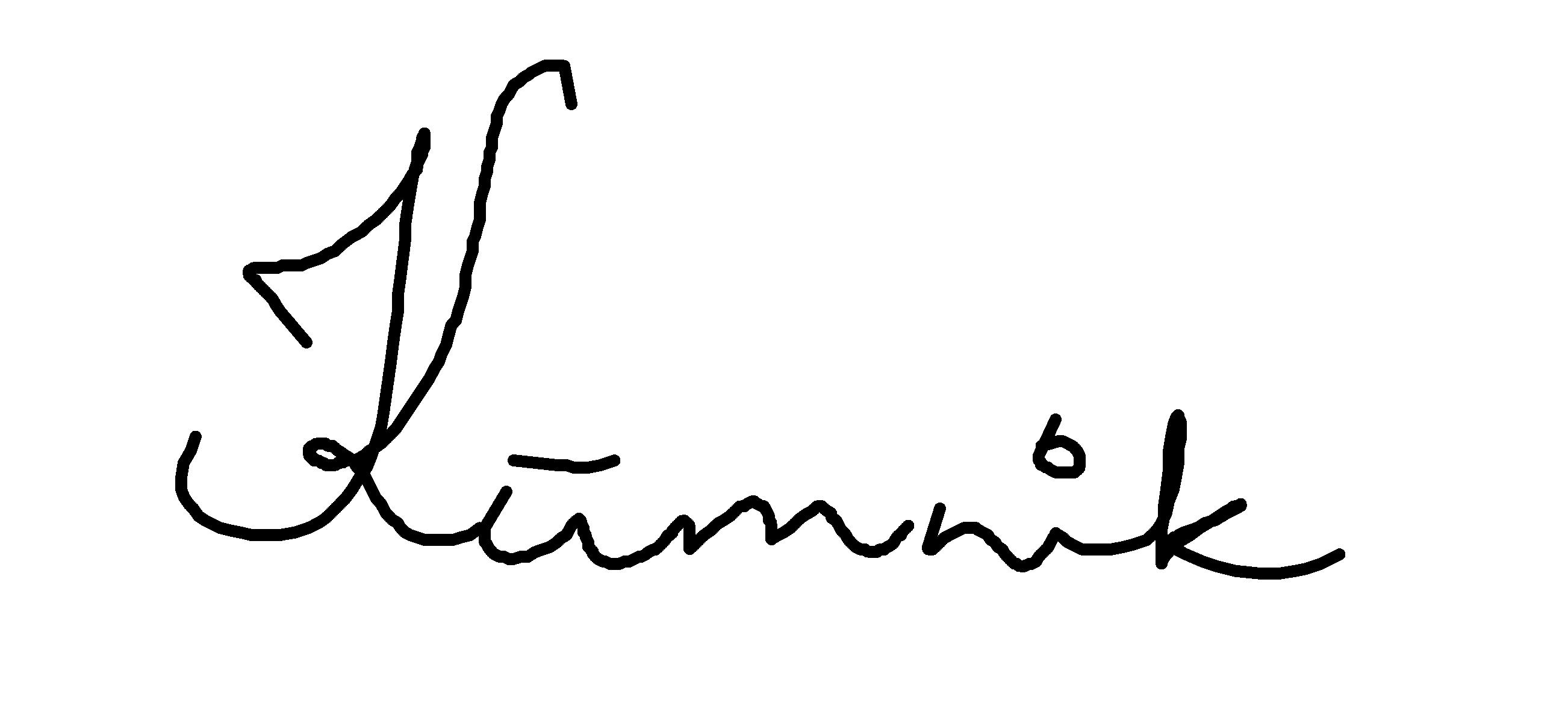 Maret Kümnik's Signature