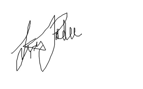 Lexis Pardee's Signature