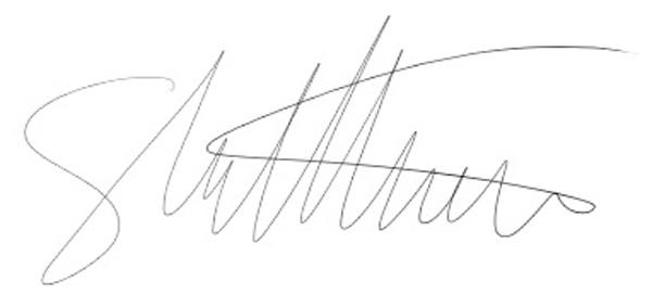 Shaun Matthews's Signature