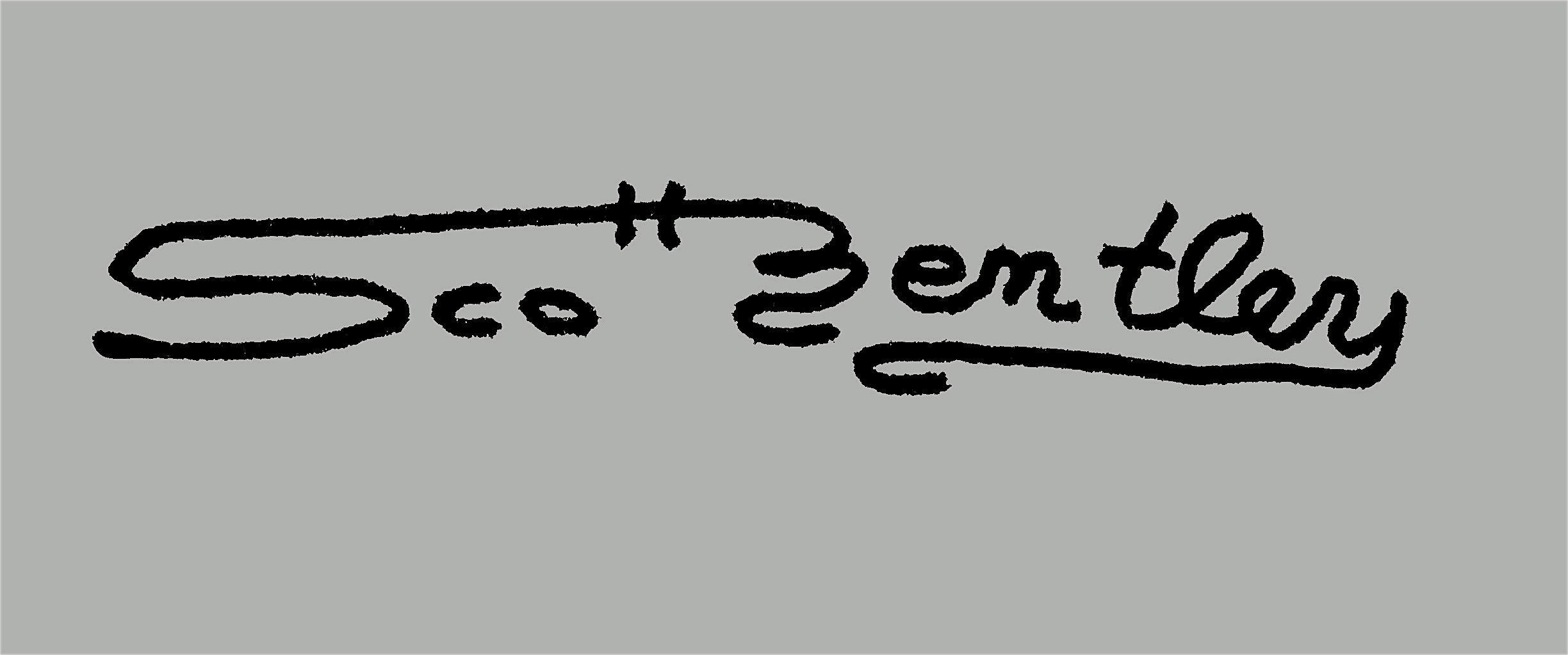 Scott Bentley's Signature