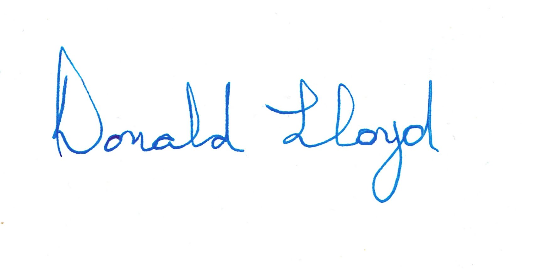Donald Lloyd's Signature