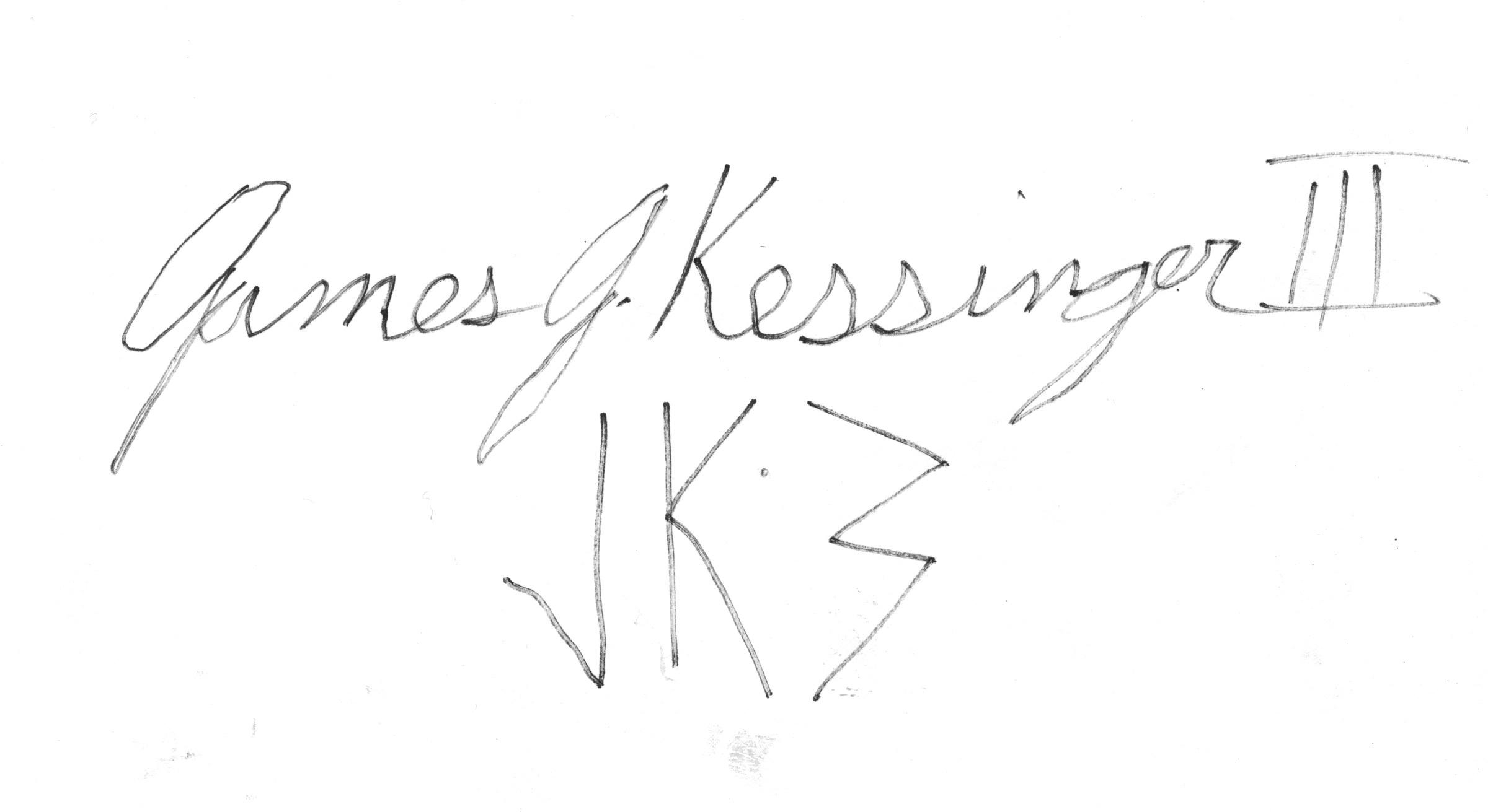 James Kessinger's Signature