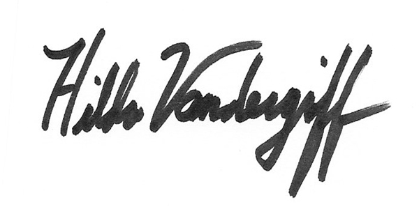 Hilda Vandergriff's Signature