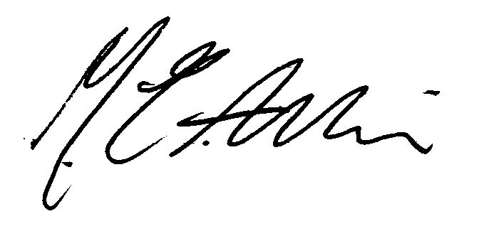 Michael Aslin's Signature