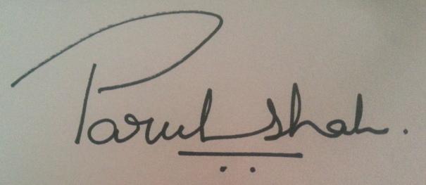 parul shah's Signature
