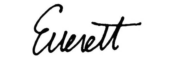 Everett E Henderson Jr's Signature