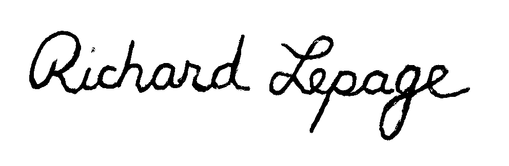 Richard Lepage's Signature