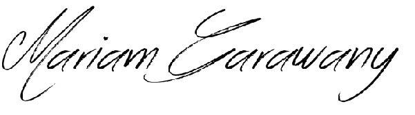 MARIAM Garawany's Signature