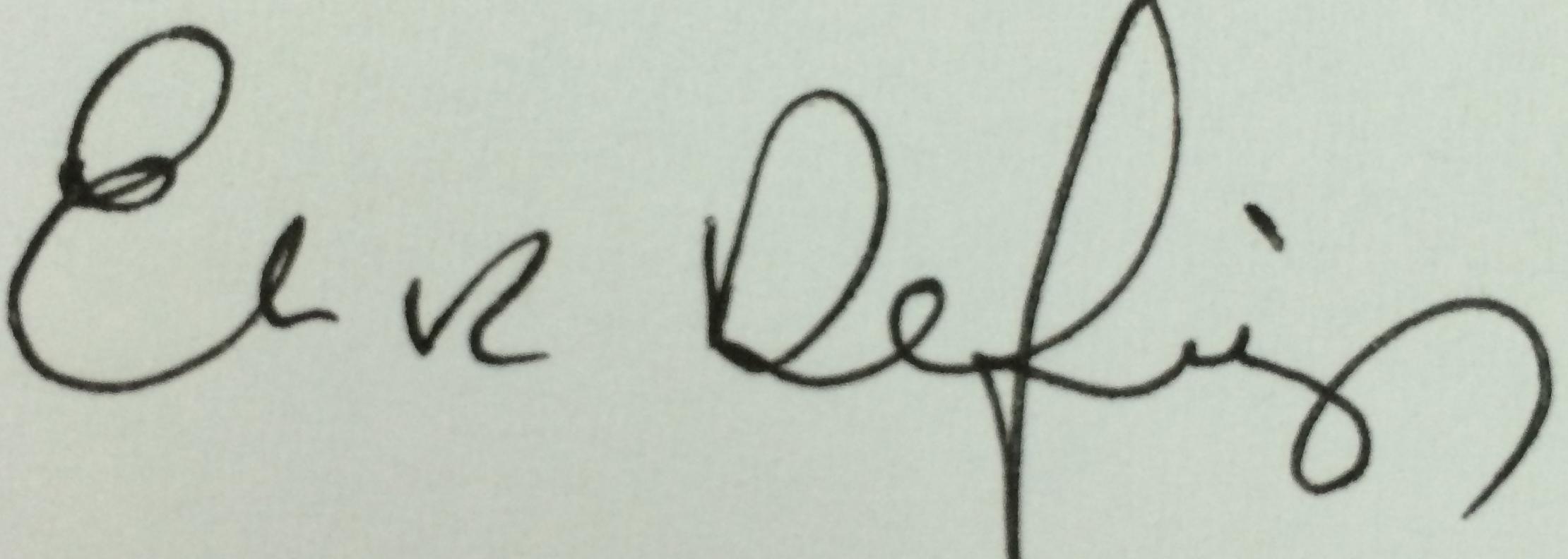 Elaine Defibaugh's Signature
