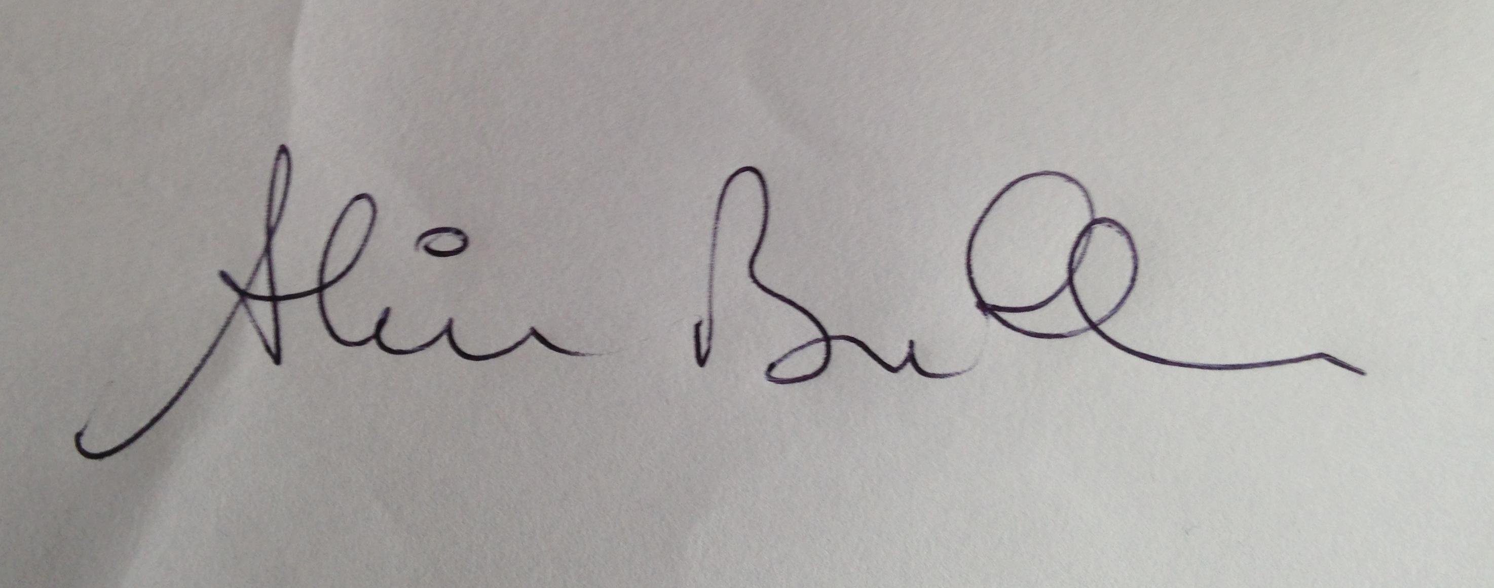 ALAIN BULLE's Signature