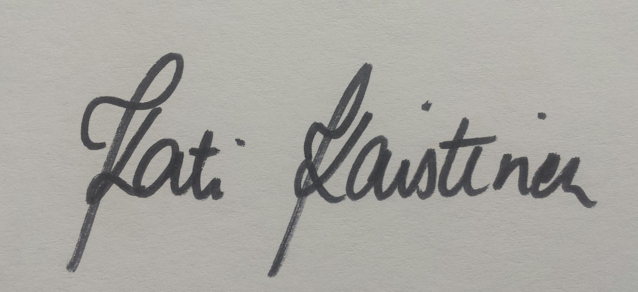 Kati Kaistinen's Signature
