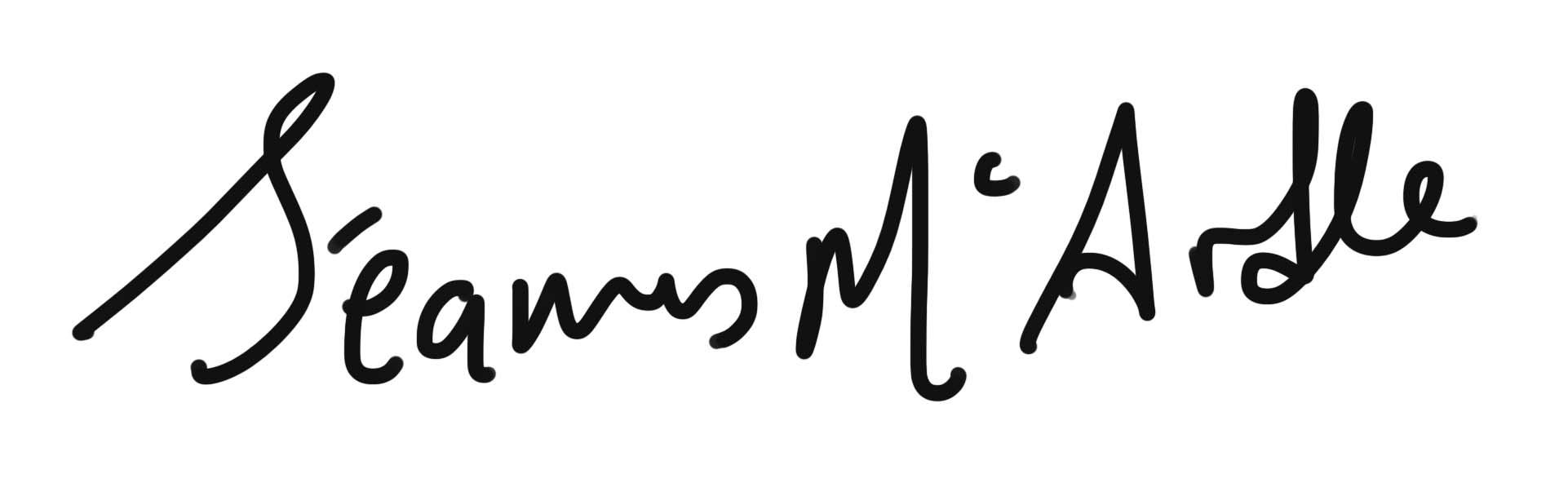 Seamus Mc Ardle's Signature