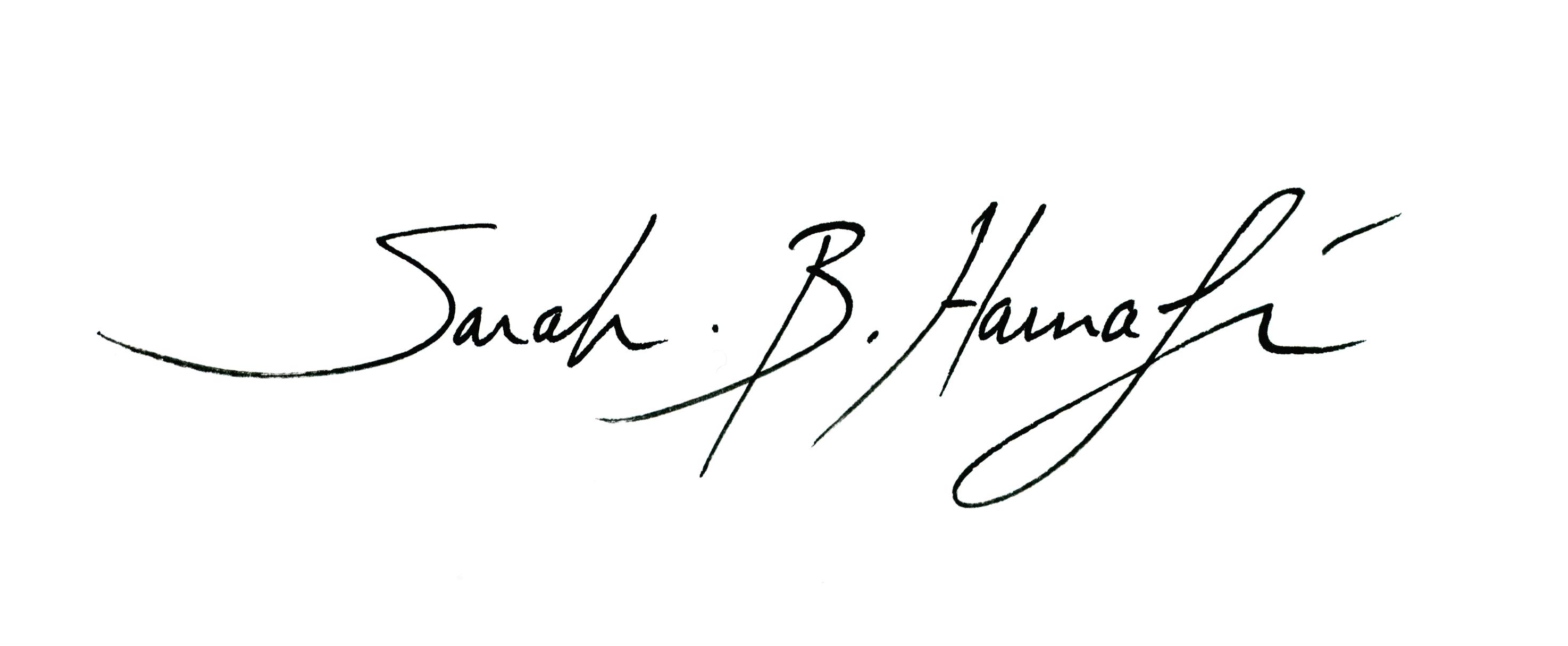 Sarah B. Harnafi's Signature