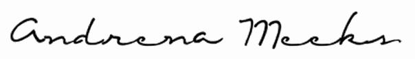 Andrena Meeks's Signature