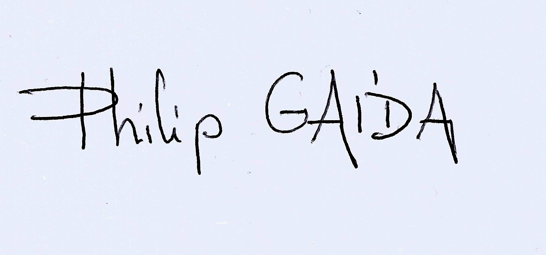 Philip Gaida's Signature
