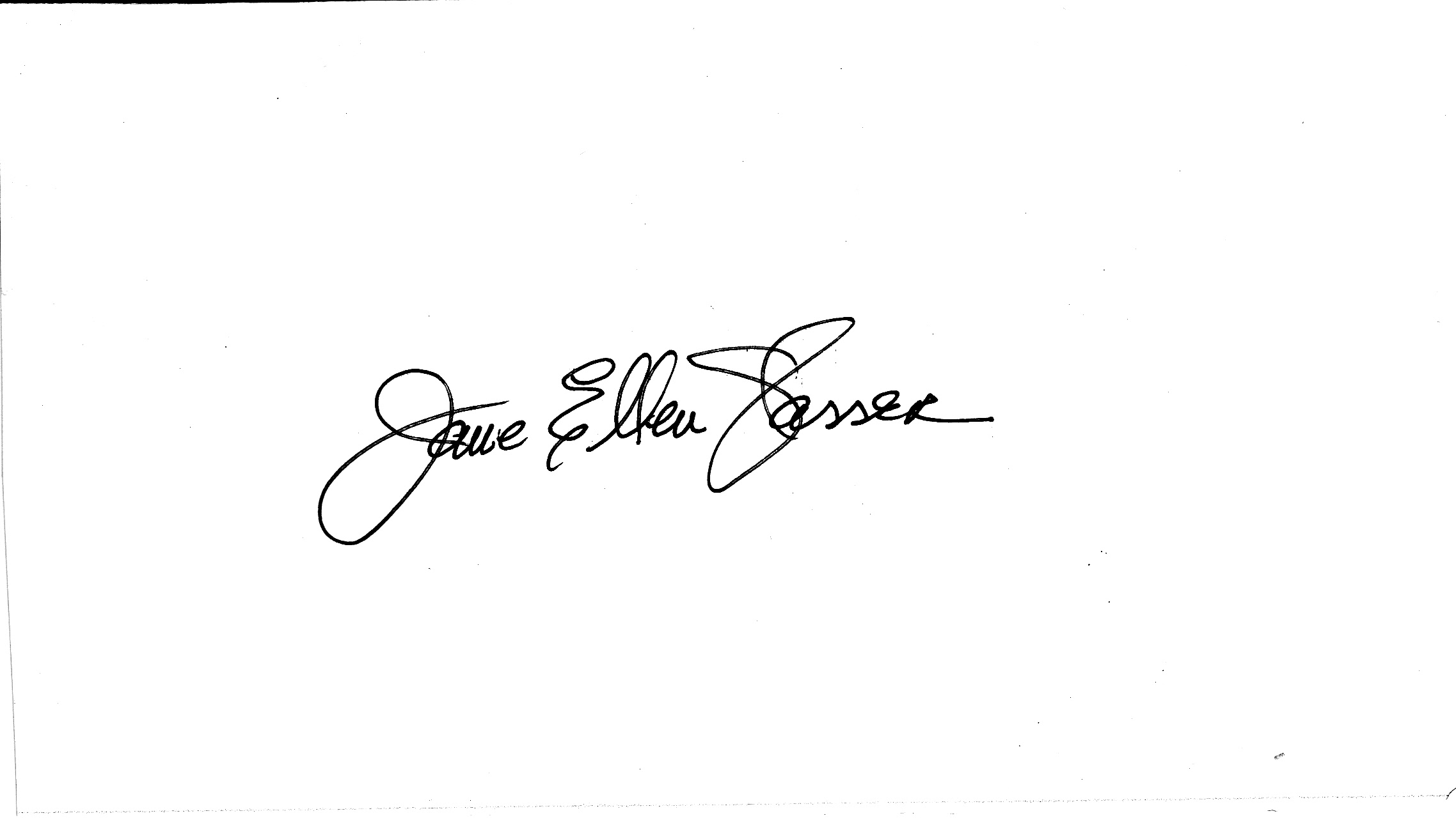 Jane Glasser's Signature
