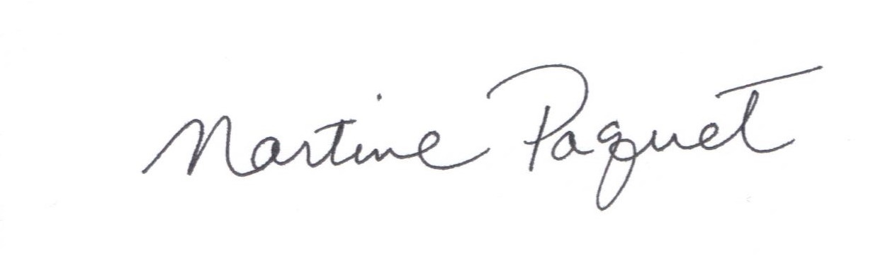 Martine Paquet's Signature