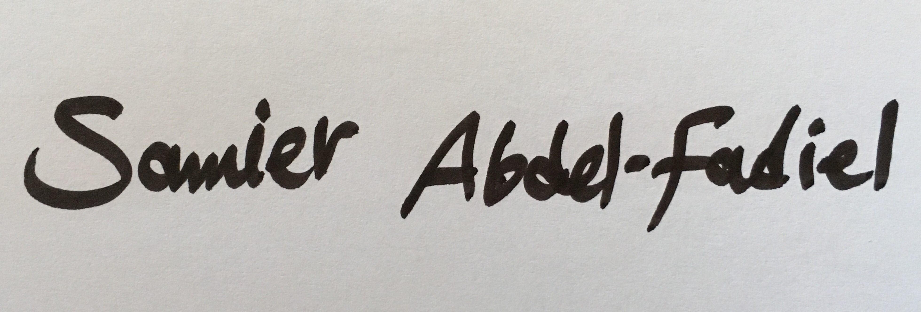 Samier abdelfadiel's Signature