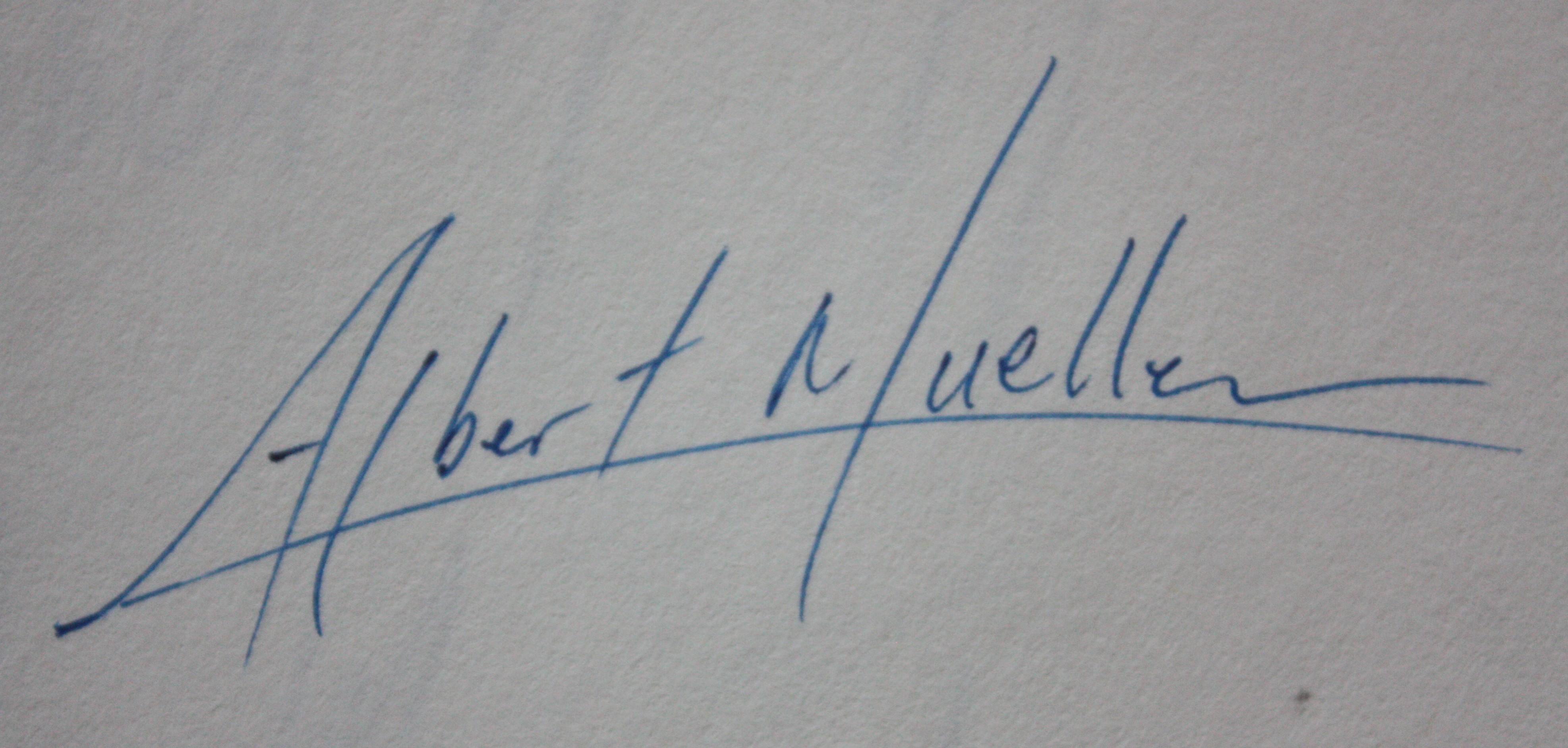 Albert Mueller's Signature