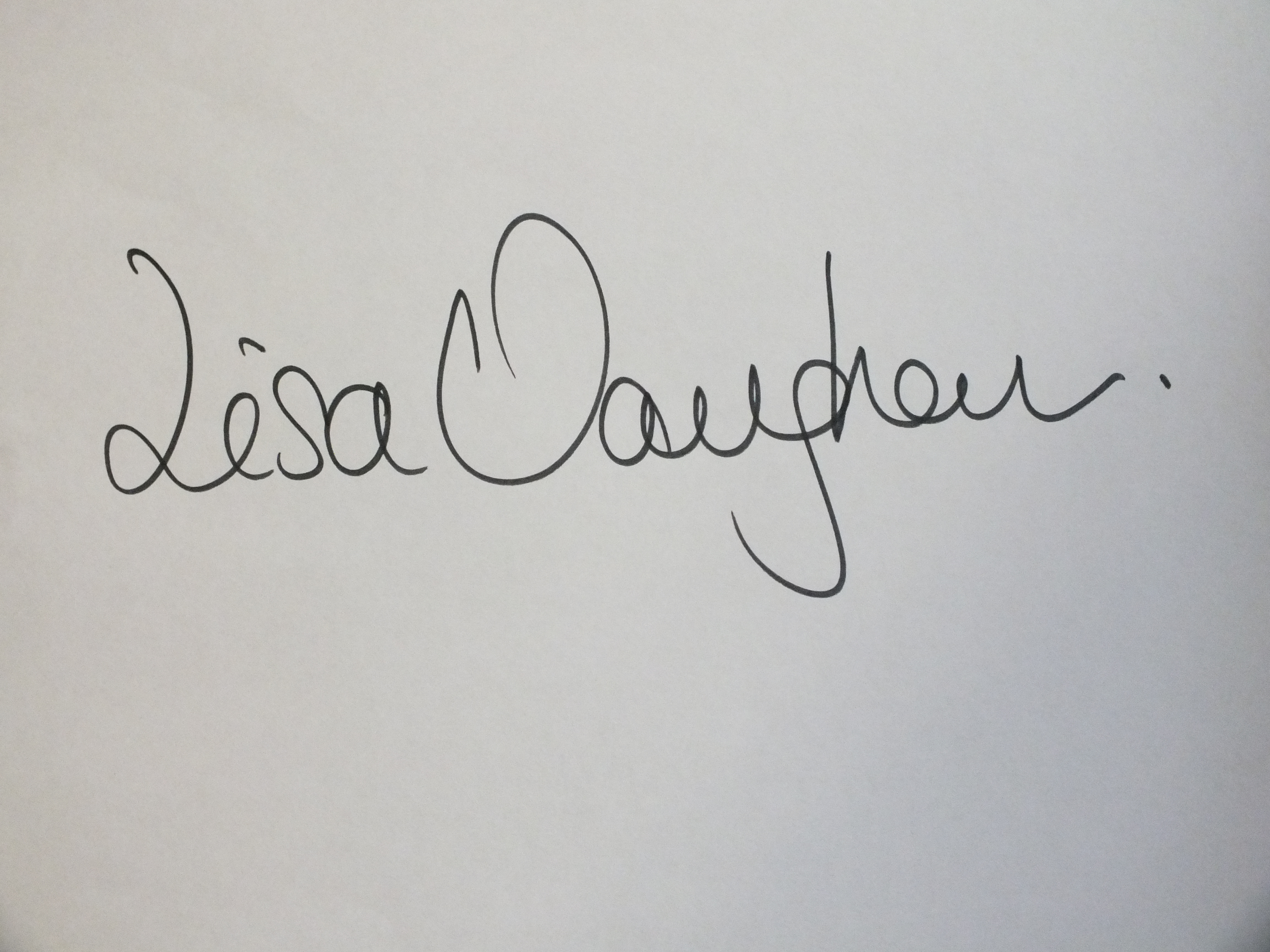 Lisa vaughan's Signature