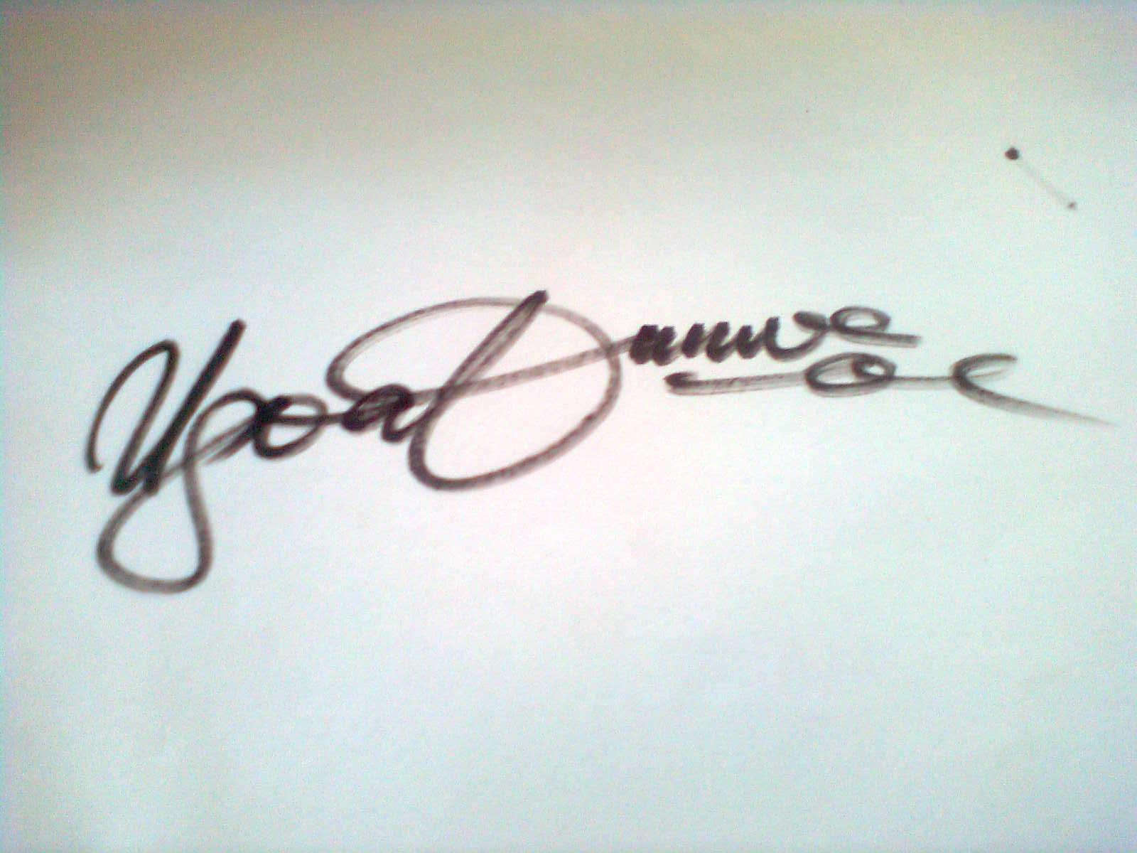 Cletus Ugoabunwa's Signature