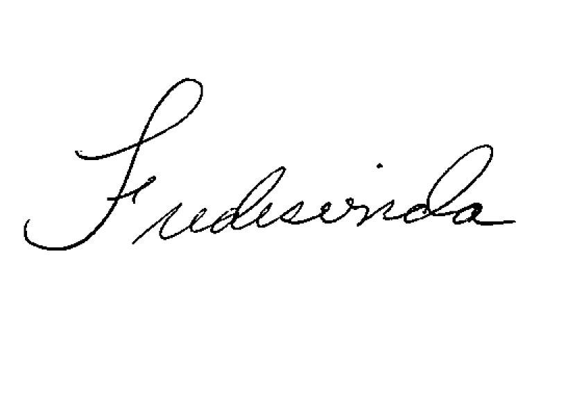 Fredesvinda  Cruz Mendez's Signature