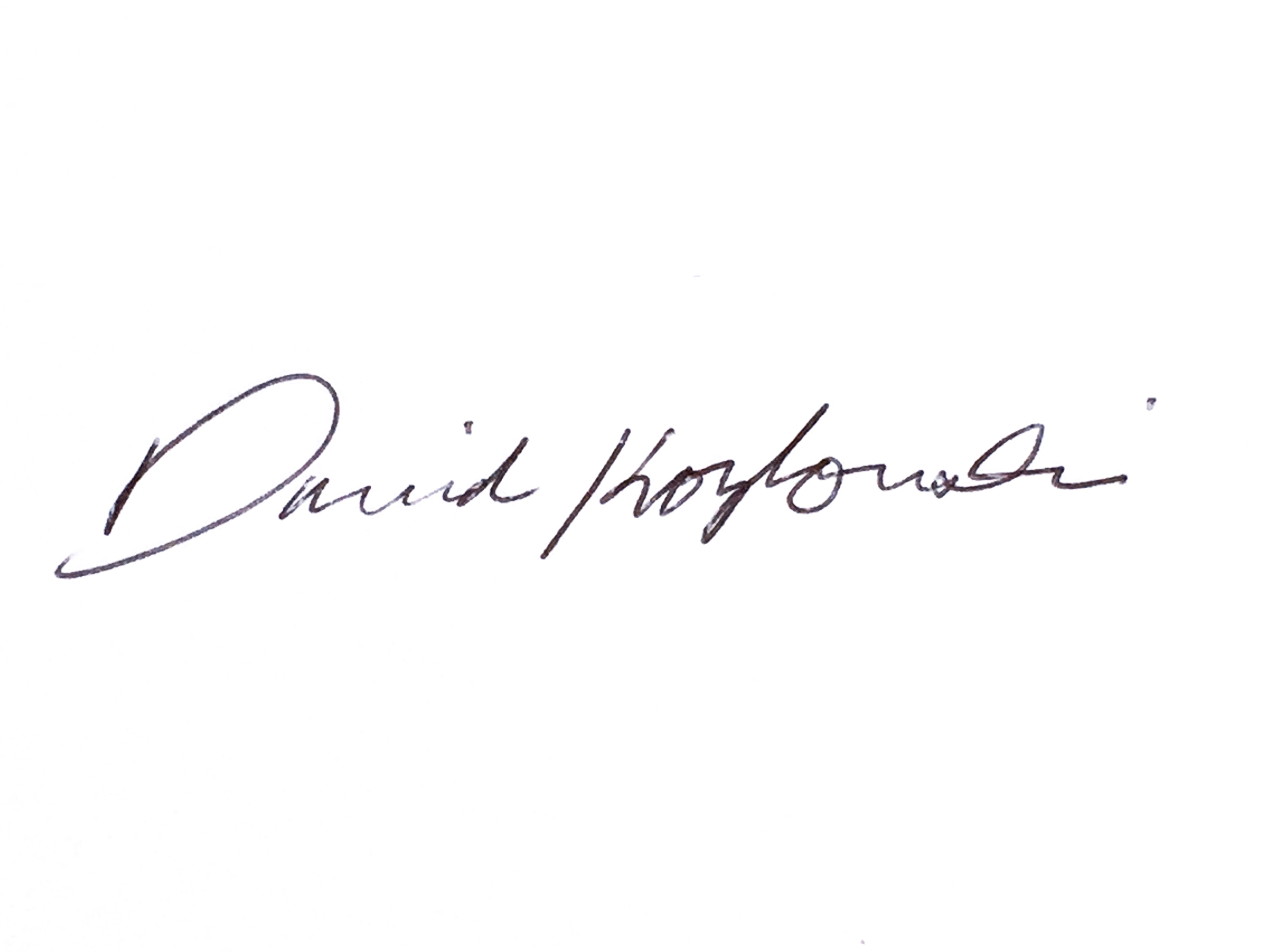 David Kozlowski's Signature