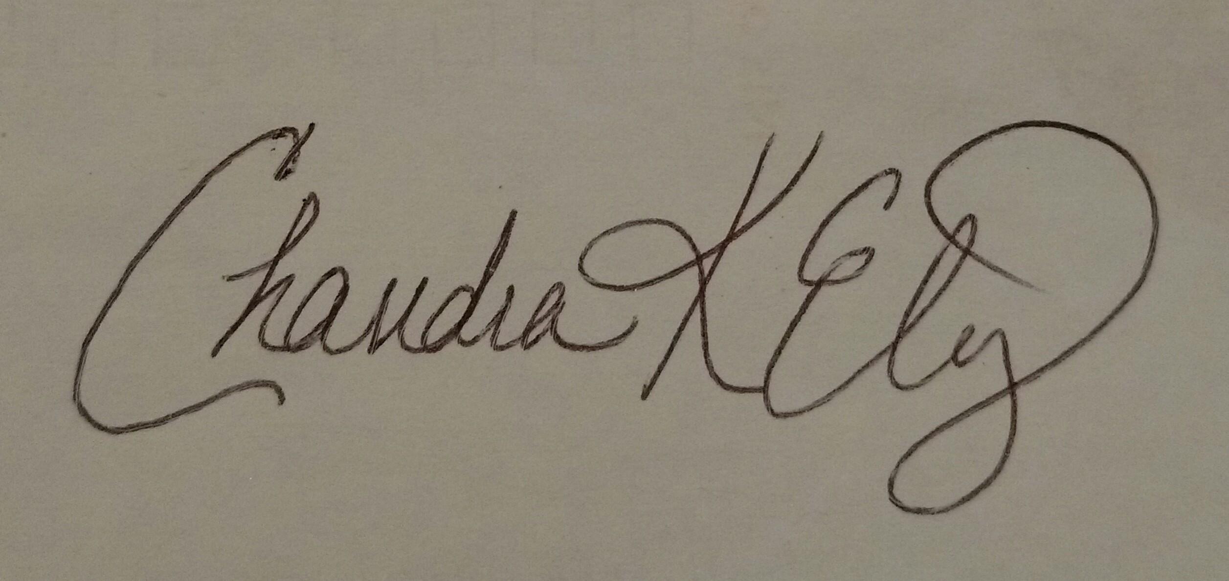 Chandra Ely's Signature