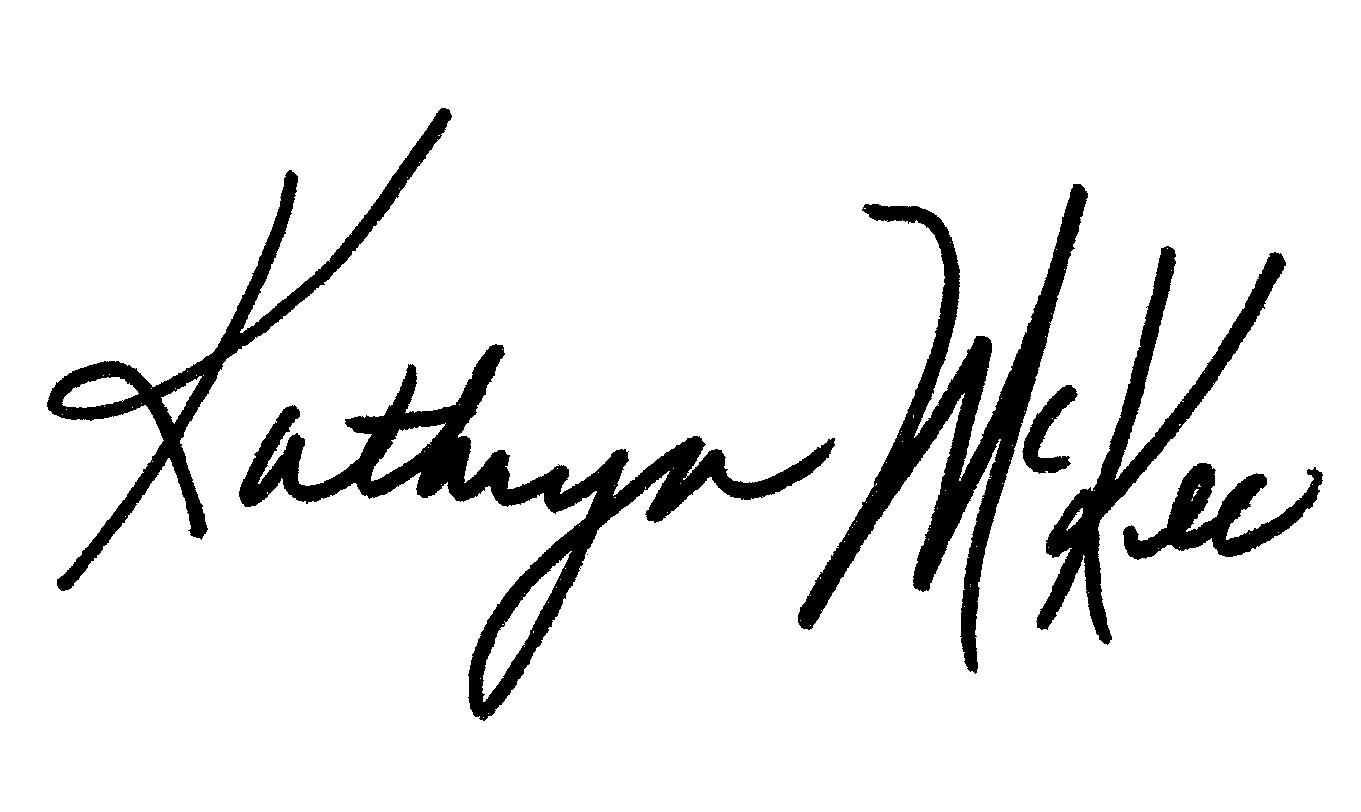 Kathryn McKee's Signature