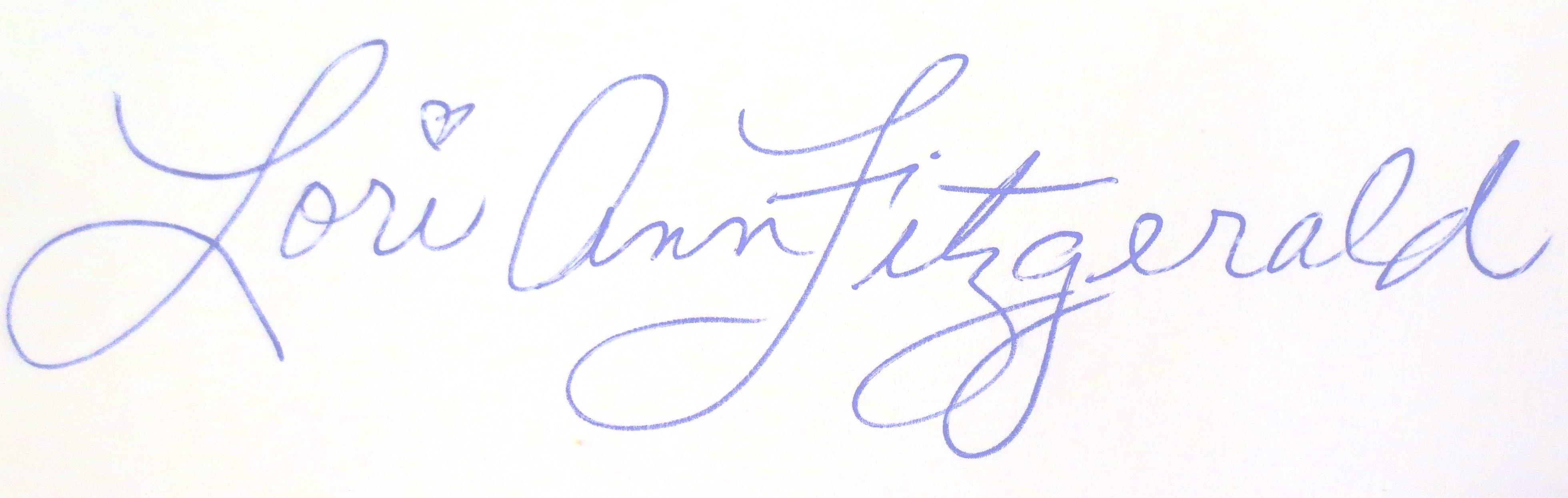 LORI ANN FITZGERALD's Signature