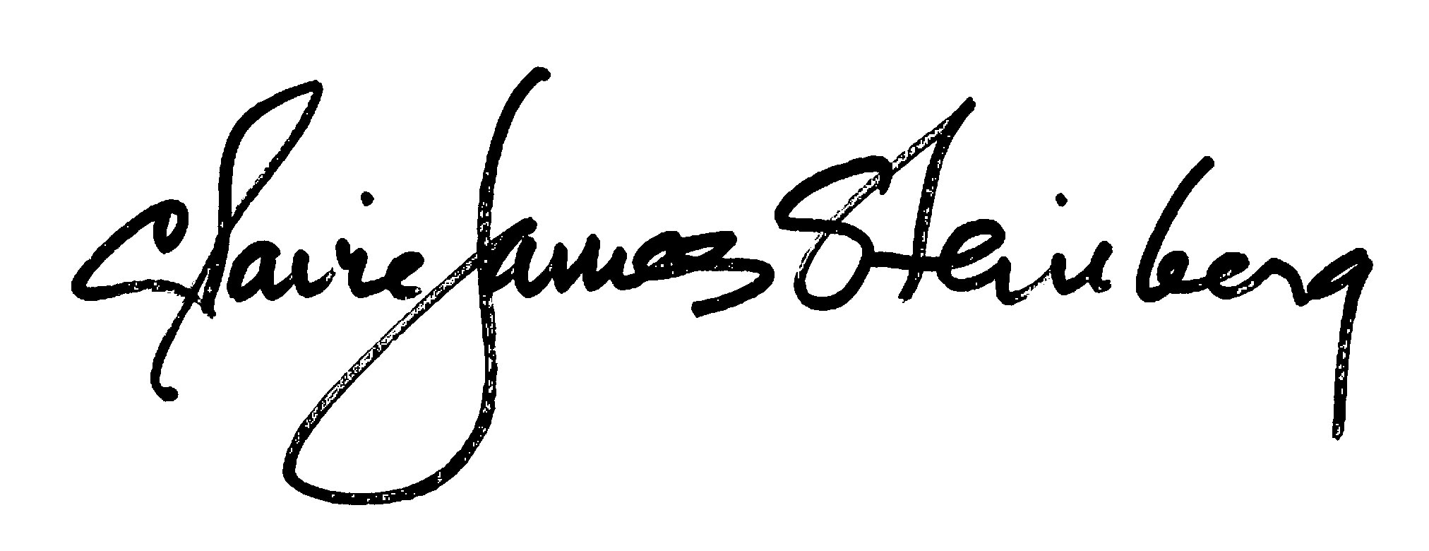 claire James Steinberg's Signature