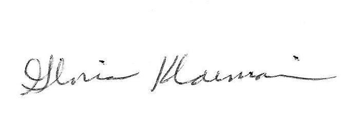 Gloria Klaiman's Signature