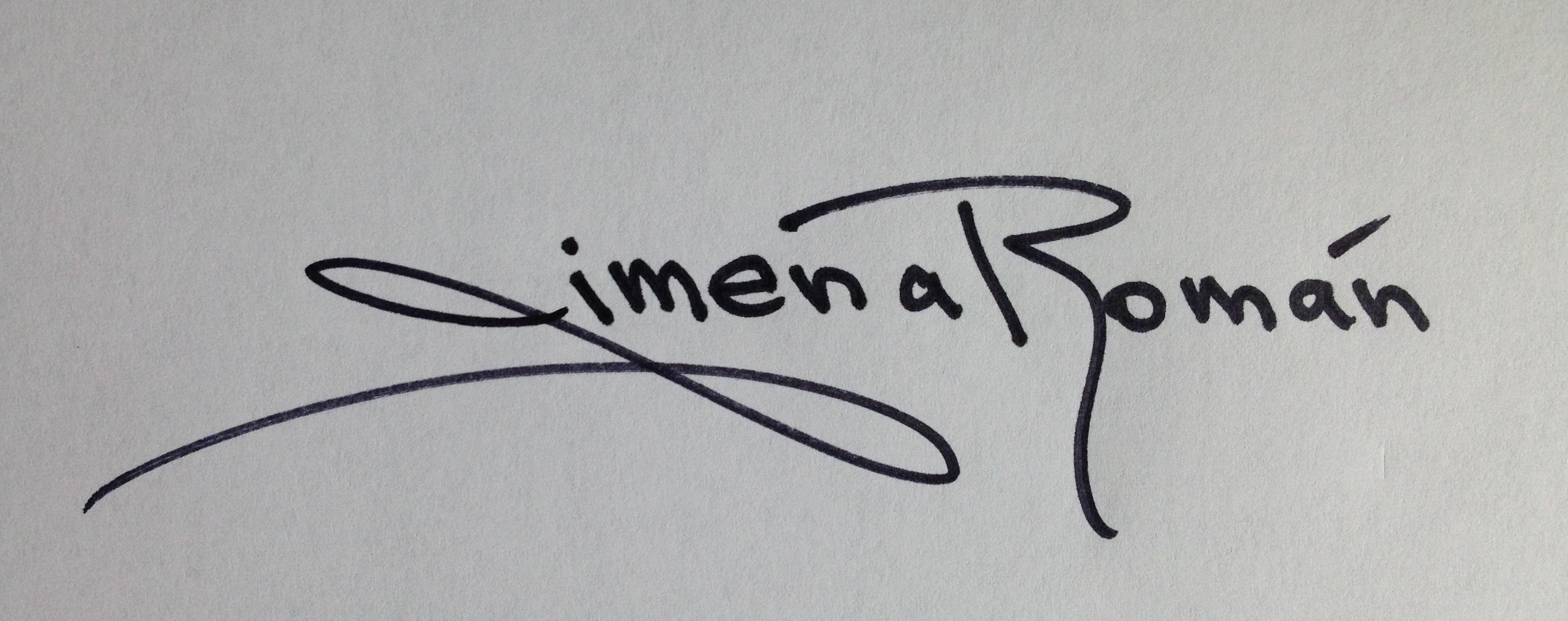 Jimena Roman's Signature
