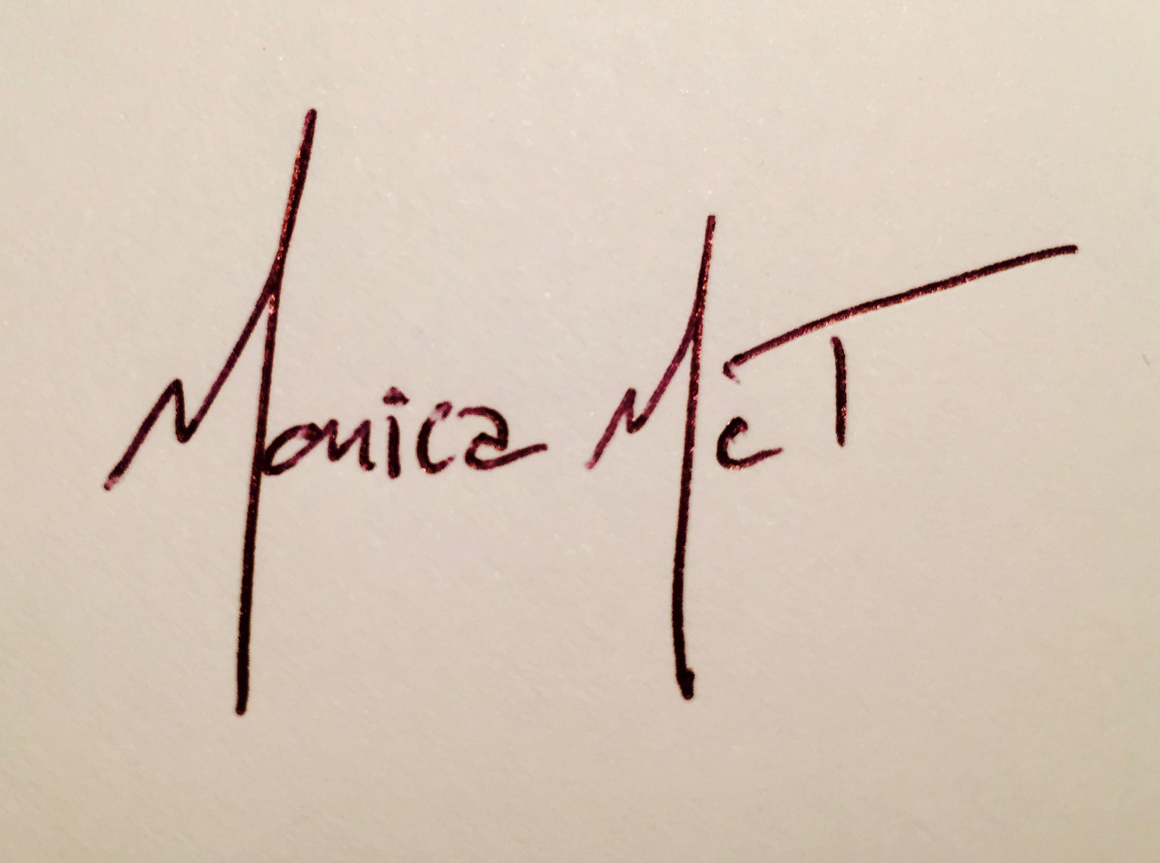 Monica McTaggart's Signature