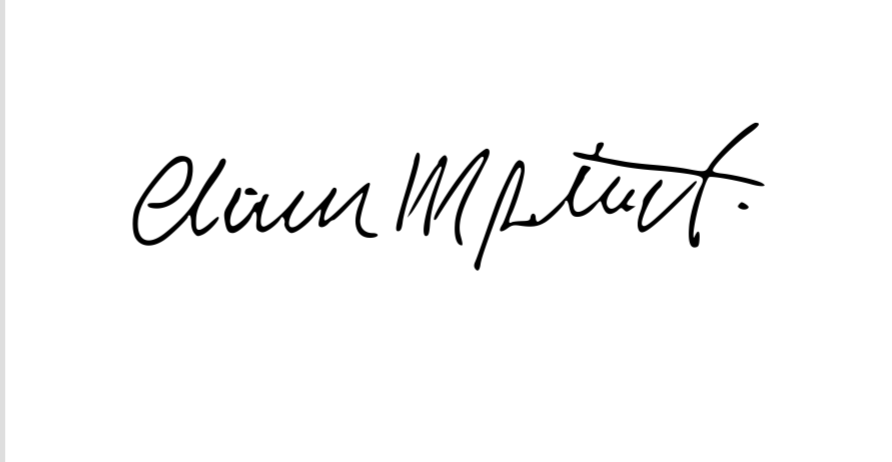 Claudio Potenti's Signature