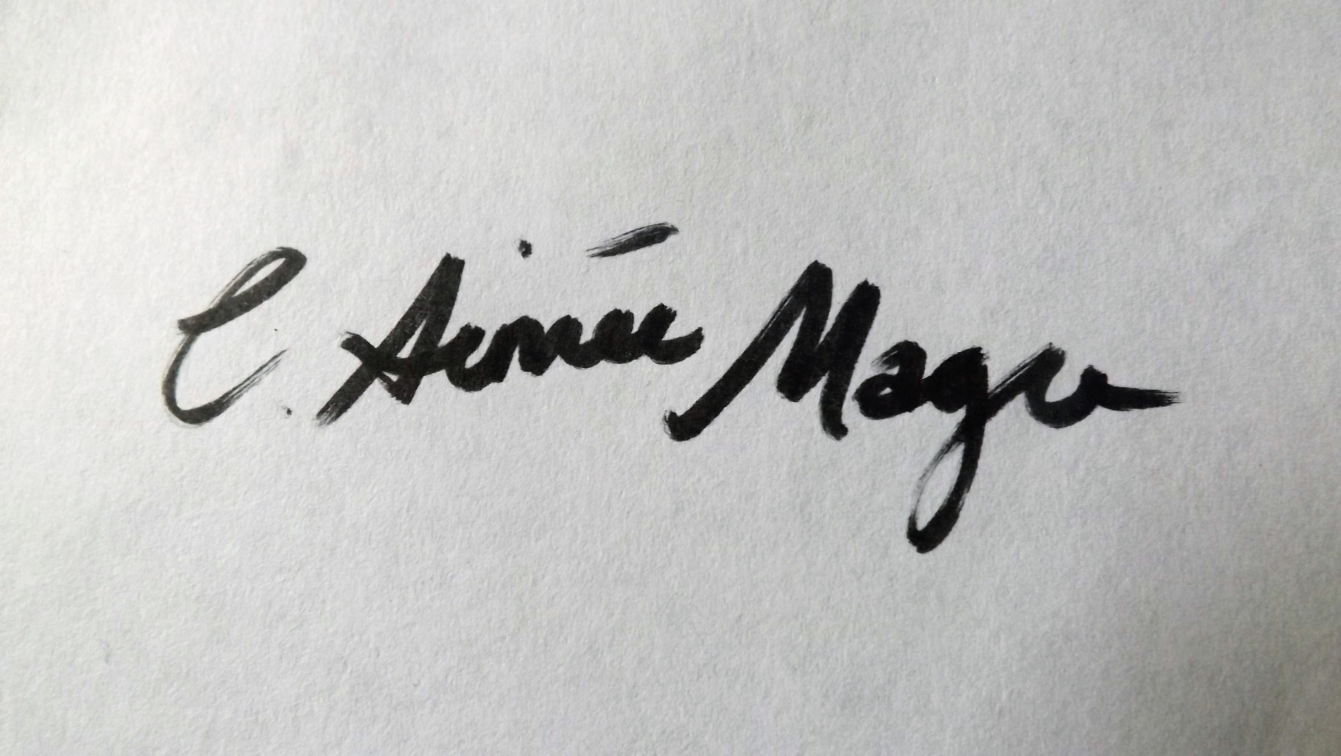 Catherine Aimee Magee's Signature