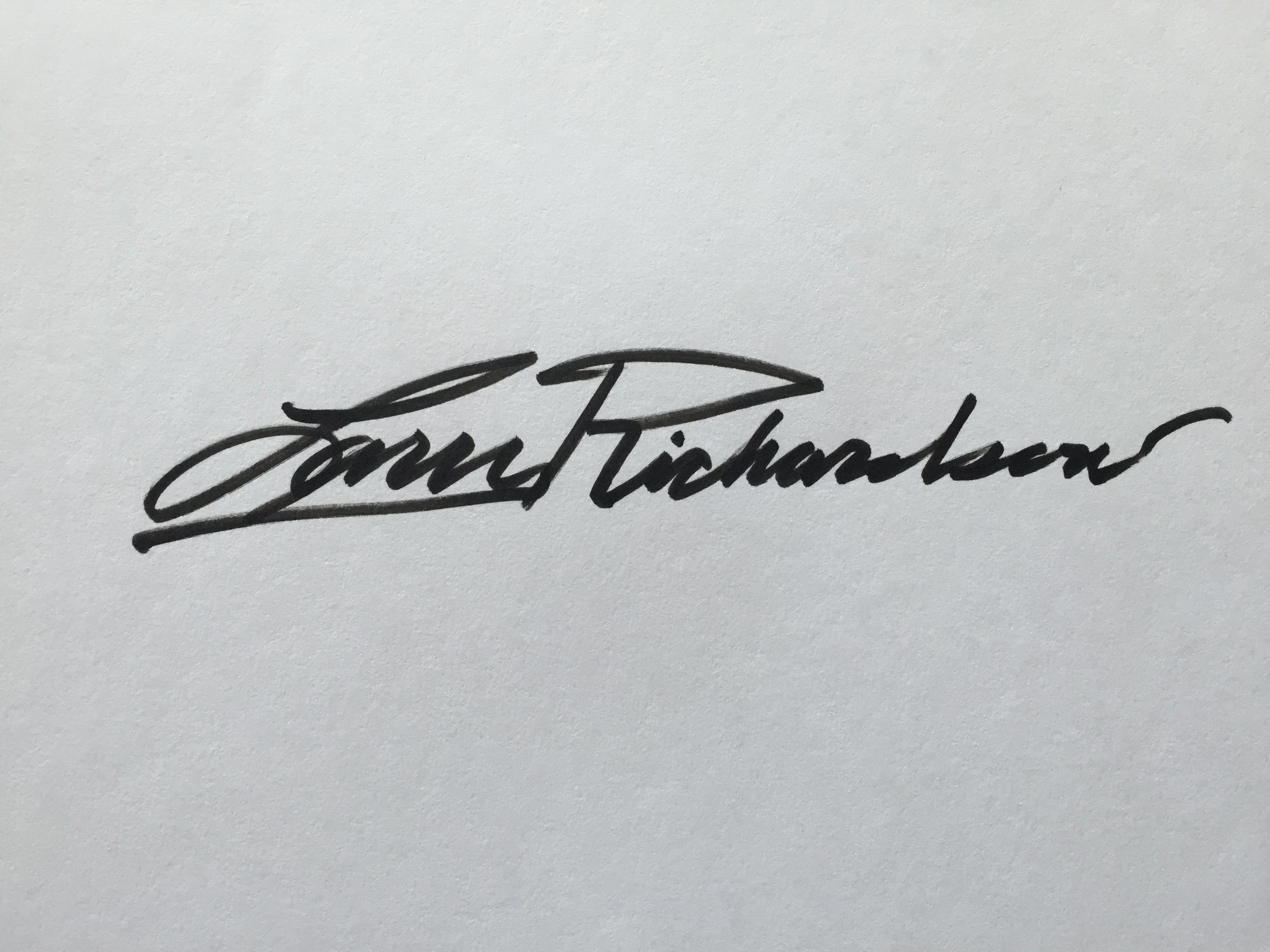Larry Richardson's Signature
