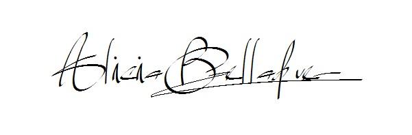 Alicia Belladue's Signature