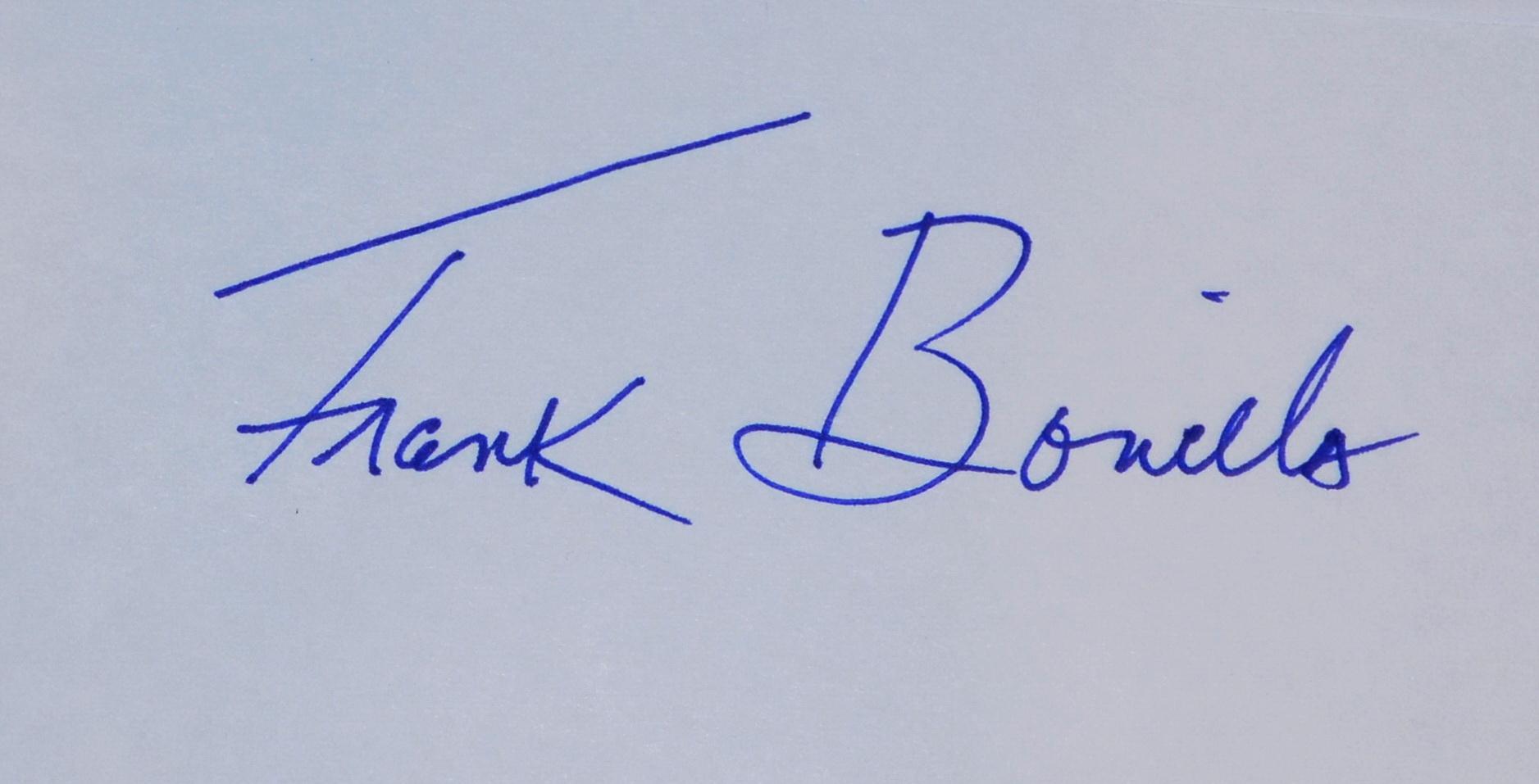 Visual Artist Frank Bonilla's Signature