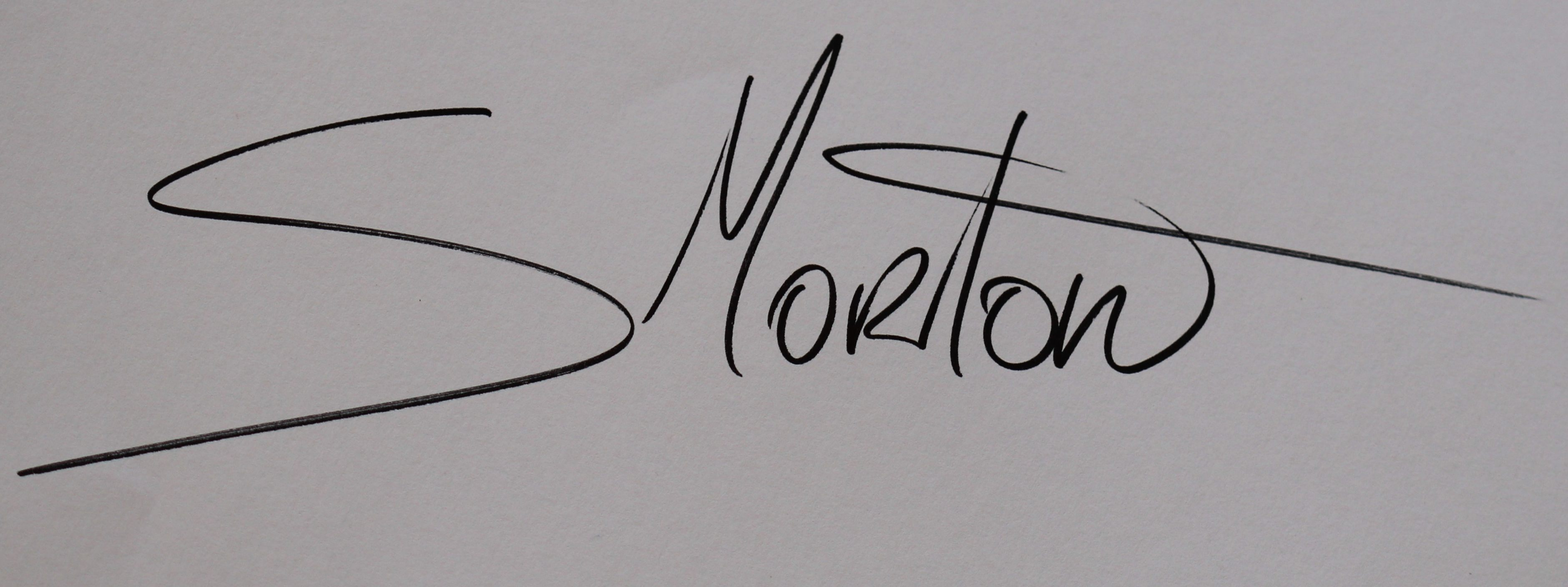 Sussanne Morton's Signature