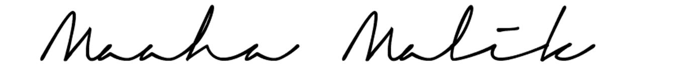Maaha Malik's Signature