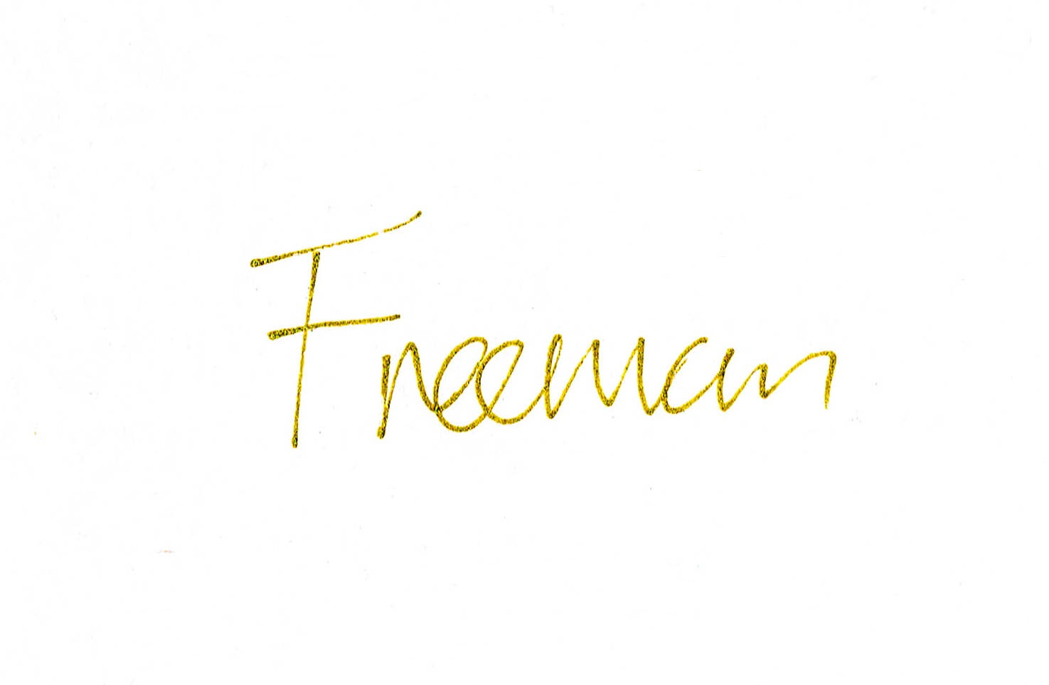 Freeman uk's Signature