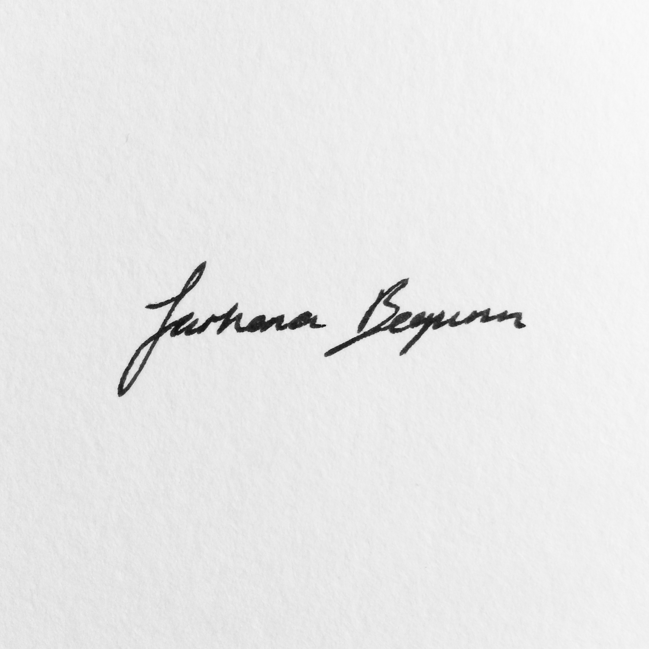 Farhana Begum's Signature
