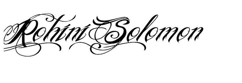 rohini solomon's Signature