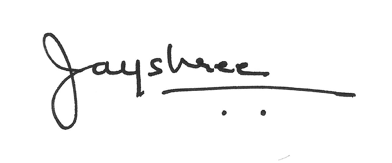 Jayshree Vakil's Signature