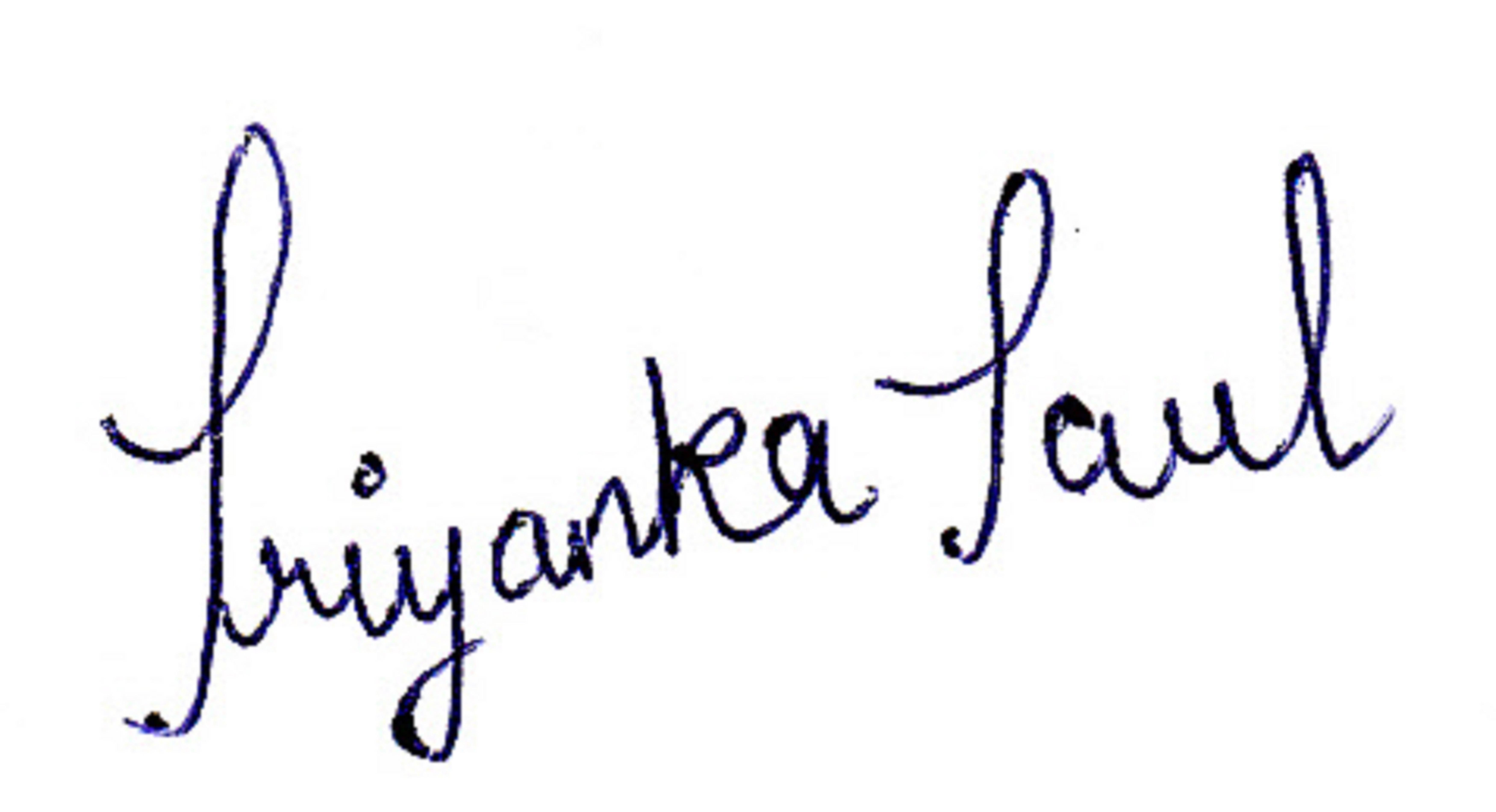 Priyanka Paul's Signature