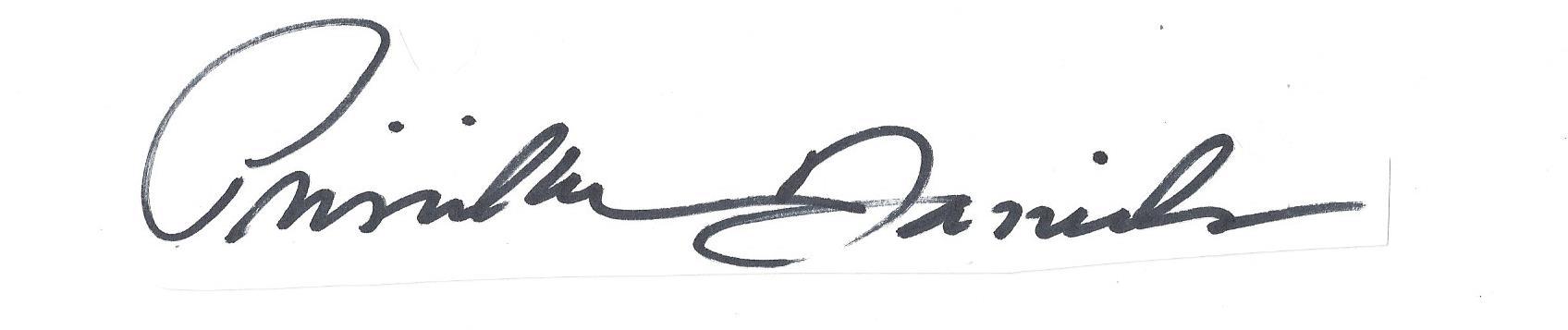 Priscilla  Daniels's Signature